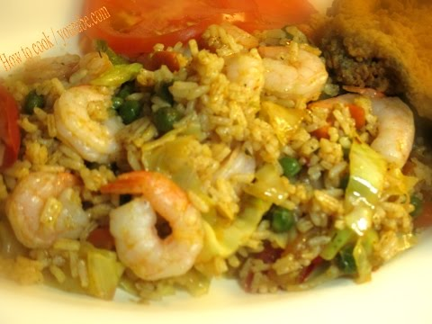 HOW TO MAKE JAMAICAN STYLE SHRIMP FRIED RICE -AUTHENTIC CHINESE STYLE- FAST & EASYRECIPE