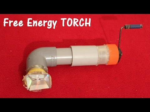 How to make a Torch/Flashlight using DC Motor - Generator
