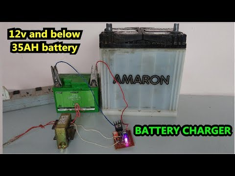 Low cost |How to make a 12 volt battery charger (1Ah-35Ah) at home