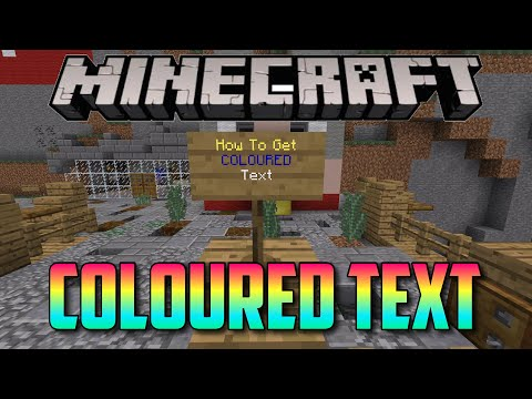 Minecraft How To Get Coloured Text on Signs (Xbox / PE / Windows 10)