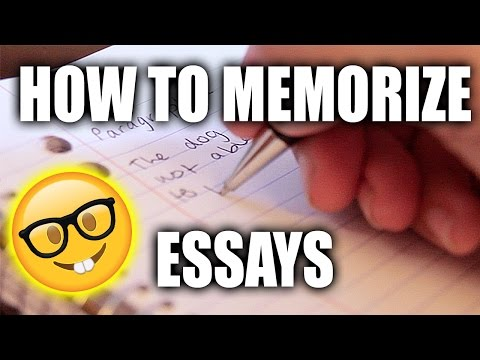 How To Memorize An Essay Quickly!!