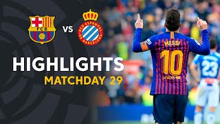 Highlights FC Barcelona vs RCD Espanyol (2-0)