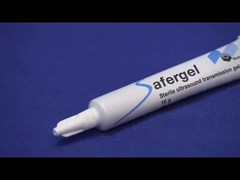 New sterile gel for ultrasound - video