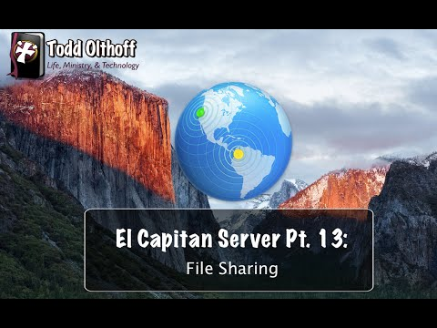El Capitan Server Part 13: File Sharing
