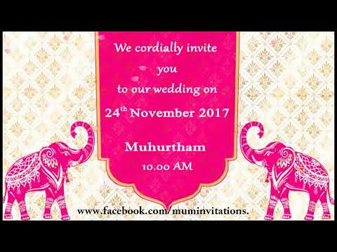 Traditional Whatsapp Wedding Invitation For  Indian Couple