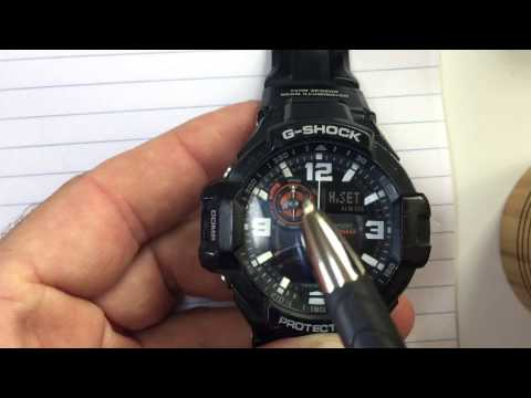 Casio G-Shock ADJUST time hands (HD) Hidden menu digital + analog times match GShock aviator GA-1000