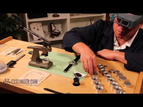 How to Press Gasket Fit Watch Crystals with a Crystal Press