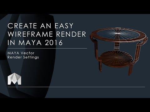 Create easy wireframe render in Maya 2016