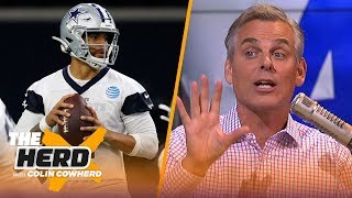 Colin lists his Top 5 NFL teams of all time, says the Cowboys 'owe' Dak a contract | NFL | THE HERD