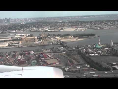 Lufthansa Boeing 747 Landing EWR (Manhattan)