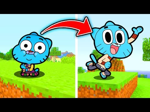Minecraft : Turning GUMBALL Back to Normal SIZE (Ps3/Xbox360/PS4/XboxOne/PE/MCPE)