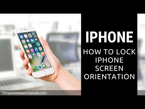 Tutorial: How to Lock iPhone Screen Orientation