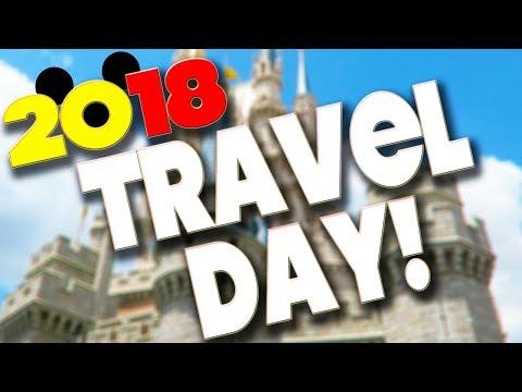 DISNEY WORLD TRAVEL DAY VLOG - ORLANDO 2018