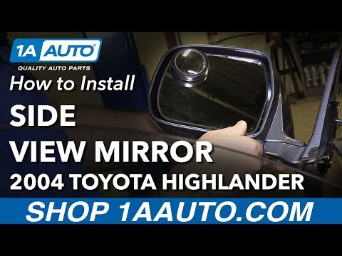 How to Install Replace Side View Mirrors 2001-07 Toyota Highlander