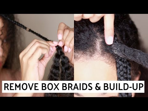 How To Remove Box Braids & Build-Up