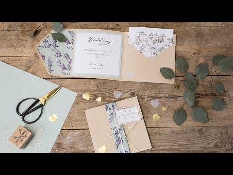 DIY : Homemade wedding invitations by Søstrene Grene