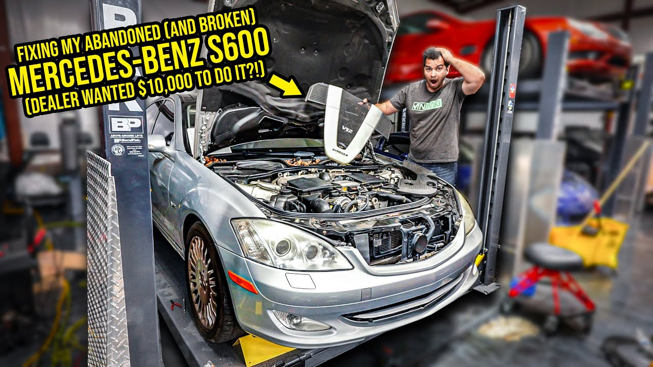 The Mercedes-Benz Dealer Wanted $10,000+ To Fix My Cheap S600, So I Did It Myself (NOT EASY)