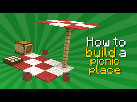 ✗ Minecraft: How to build a picnic place | Tutorial
