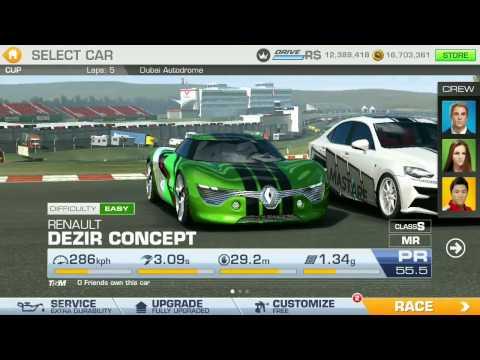 Real Racing 3 - The Gauntlet Season 11 - RENAULT Dezir Concept - Challenge 2