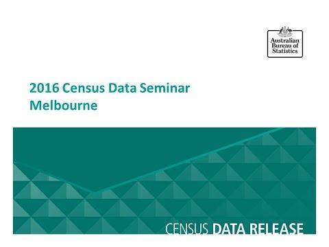 Melbourne Census Data Seminar