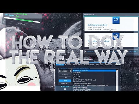 How to Dox the real way! Find Addresses, Names, Numbers etc. (Educational Video!)