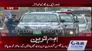 CCPO Amin Vence, DIG Operations Dr. Haider Ashraf arrives at suicide blast spot