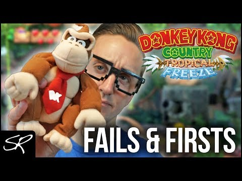 Donkey Kong Country Tropical Freeze FAILS & First Impressions! (Nintendo Switch)