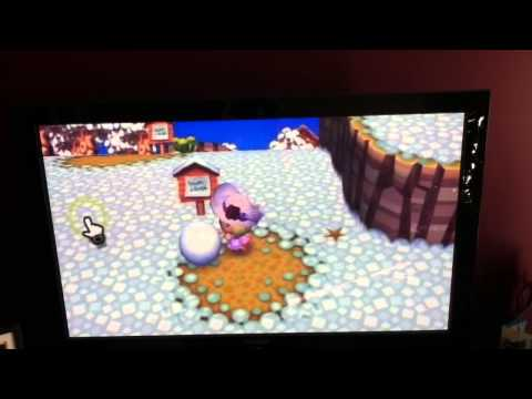 How To Make A Happy Snowman On Animal Crossing.