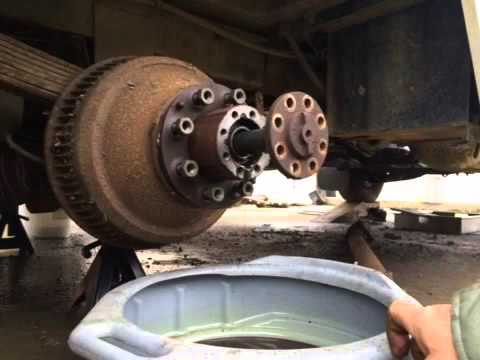 1989 Chevy dually rear drum removal with simple tools.