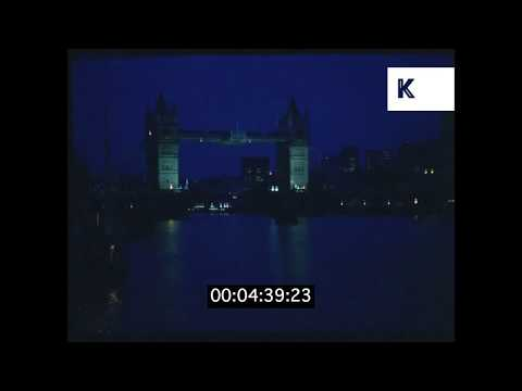 1970s London, Tower Bridge And River Thames at Night HD from 35mm | Kinolibrary