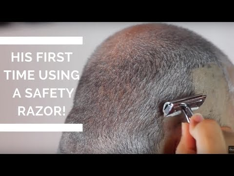 How to shave your head with a safety razor | First Time Using A Safety Razor