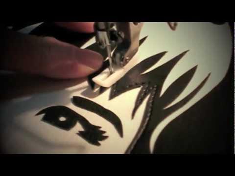 Portrait Tote Topstitching :: Cykochik Custom Handbags