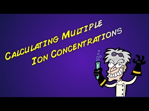 Calculating Concentration of Multiple Ions in Solution