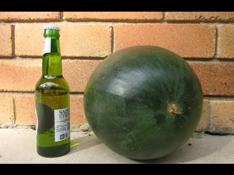 How to Open a Beer with a Watermelon
