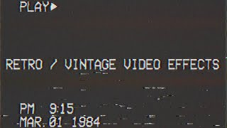 Real VHS Analog VCR Tape Filter Blue Screen Chroma Key Video Editing