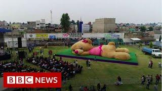 Giant teddy 'breaks world record'- BBC News