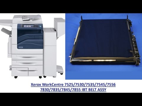 How to replace the Xerox  WorkCentre 7525/7530/7535/7545/7556 IBT BELT