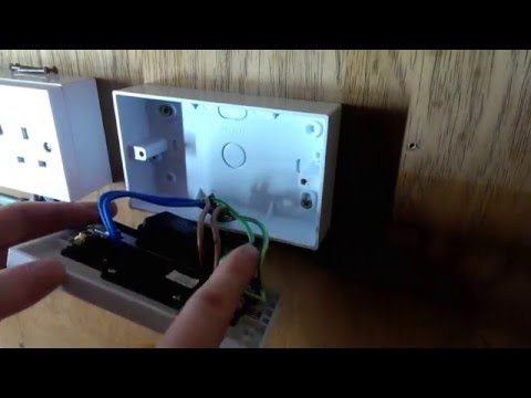 How to change a double plug/wall socket