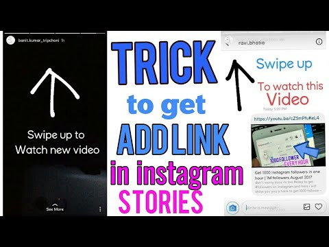 Trick to get Add Link feature in instagram stories without getting verified  | Swipe up feature
