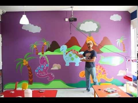 Dubai sticker wall decal decoration - Kids classroom Dinosaurs Theme by Decalideas UAE.