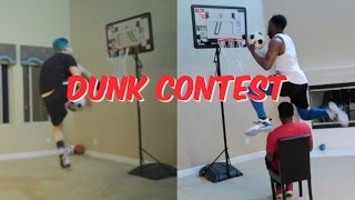 I DUNKED OVER HIS HEAD! MOST INSANE INDOOR DUNK CONTEST EVER! Ft. JesserTheLazer & TDPresents