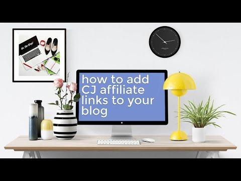 How to Add CJ Affiliate Links to Your Wordpress Blog