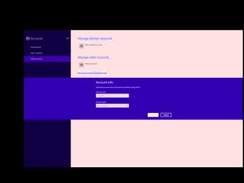 Setting up a Domain Account Windows 8 and above