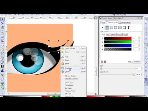 Jeyz - Designing a YoWorld Eyes With Inkscape. (Part 1) UPDATED!