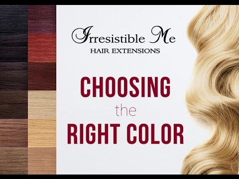 Choosing the perfect color for your hair extensions!