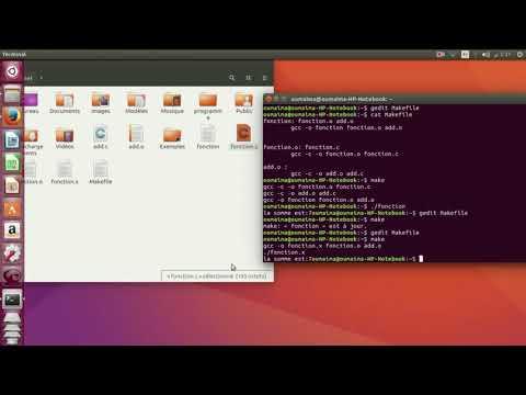 Tutoriel Linux : Le Programme Make et le Makefile .