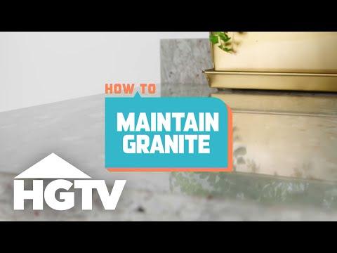 How to Maintain Granite Countertops - How to House - HGTV