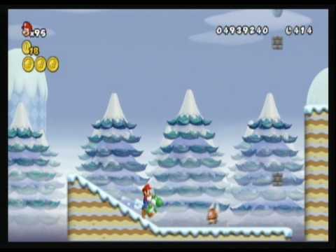 New Super Mario Bros. Wii custom level - Snow a go go