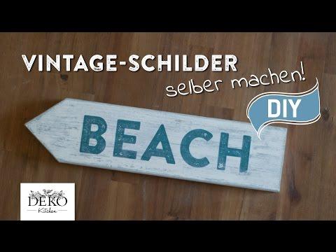 DIY: Vintage-Schilder selber machen | Deko Kitchen