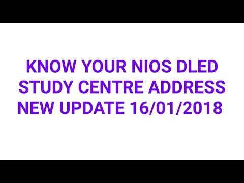 nios dled study centre